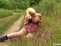 Free Porn With Her Panties Around Her Knees A Rollerblading Girl Fingers