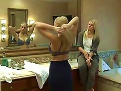 Free Porn Blonde Seduces A Hot Blond Teen In Lesbian Action Vid