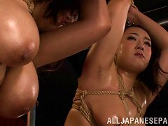 Free Porn Tied Up Japanese Chick With Big Boobs Getting Her Wet Pussy Licked
