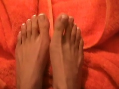 Free Porn Enjoy The  Manicured Feet Of