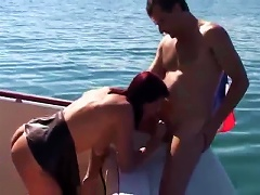Free Porn Cute Young Redhead Fucked Hard On Boat