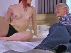 Free Porn Grandpa With Wry Penis Nails In Doggie Teeny Girl