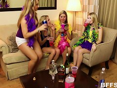 Free Porn Mardi Gras Party Turns Into A Full Blown Group Sex Party