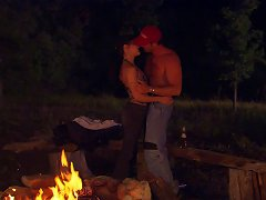 Free Porn Romantic Couple Fuck Have An Orgasmic Intimacy Outdoors At Night
