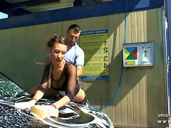 Free Porn Pretty Young French Babe Hard Sodomized In A Carwash