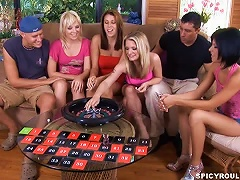 Free Porn Horny Teen Sluts Fuck After A Roulette Game