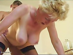 Free Porn Buxom Blonde Granny Gets Fucked By Young Cock