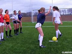 Free Porn Girls On A Soccer Team Strip Down And Play The Game Naked