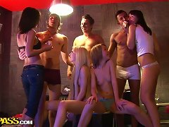 Free Porn Real College Hotties Having Group Sex At A Big Bash