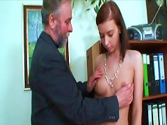 Free Porn Teenage Slut In Sexy White Leather Boots Likes Grandpa Cock